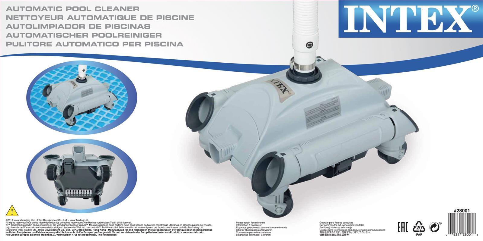 עדכון מעודכן אינטקס ישראל | רובוט לניקוי תחתית הבריכה ללא מאמץ | אביזרים לבריכה NV-39